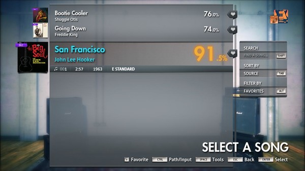 "Скриншот №4 к Rocksmith® 2014 Edition – Remastered – John Lee Hooker - ""San Francisco"""