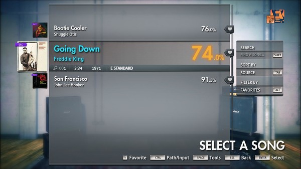 "Скриншот №2 к Rocksmith® 2014 Edition – Remastered – Freddie King - ""Going Down"""