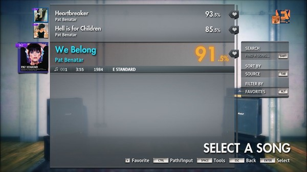 "Скриншот №2 к Rocksmith® 2014 Edition – Remastered – Pat Benatar - ""We Belong"""