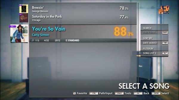 "Скриншот №3 к Rocksmith® 2014 Edition – Remastered – Carly Simon - ""Youre So Vain"""