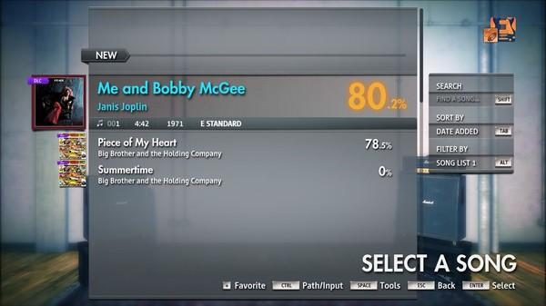"Скриншот №3 к Rocksmith® 2014 Edition – Remastered – Janis Joplin - ""Me and Bobby McGee"""