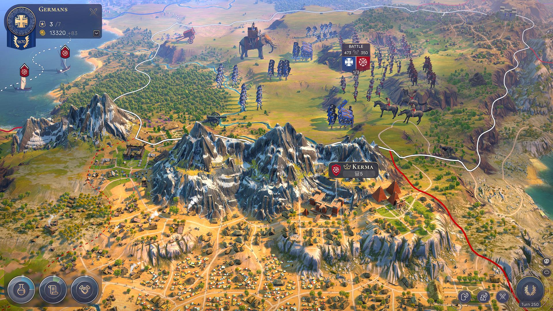 El juego de estrategia Humankind expone la importancia de las características del terreno 2