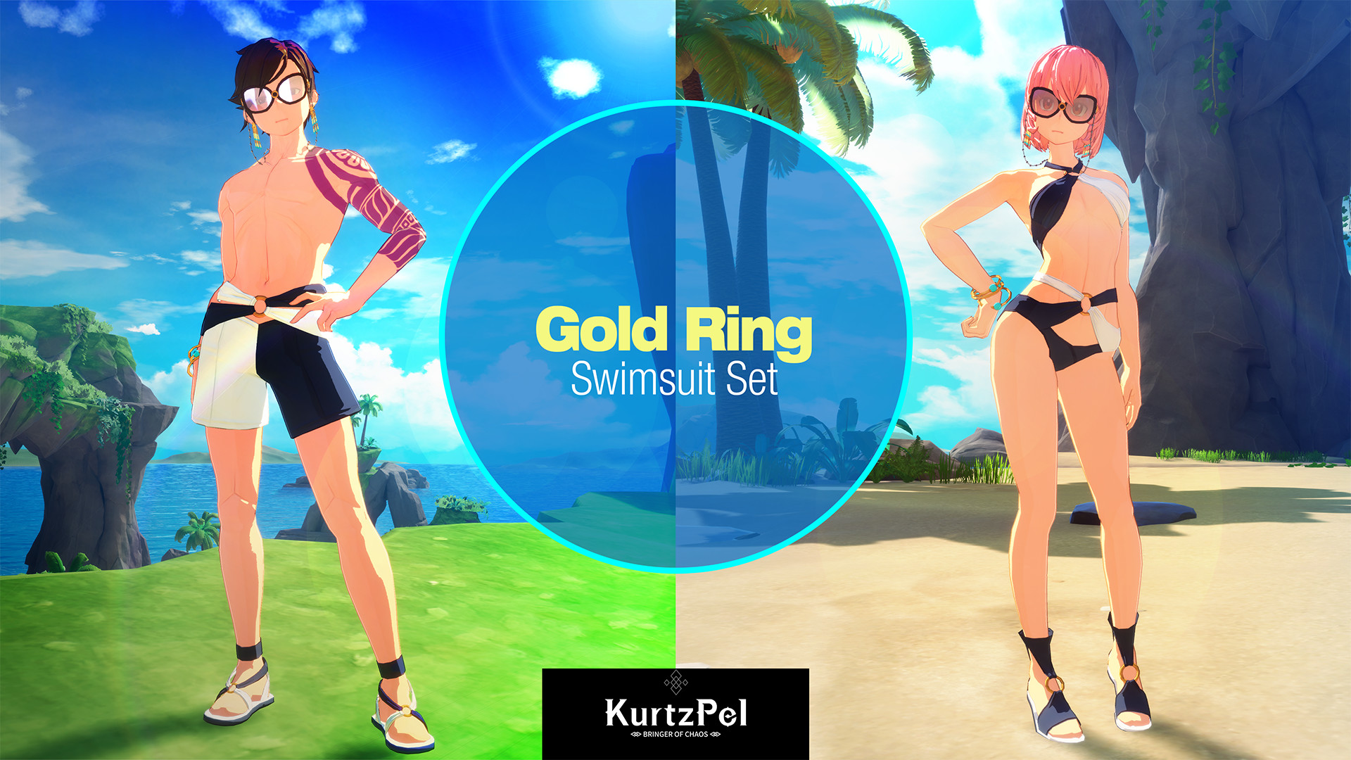 KurtzPel - Gold Ring Swimsuit Costume Set Steam Discovery