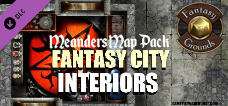 Fantasy Grounds - Meander Map Pack: Interior City (Map Pack)
