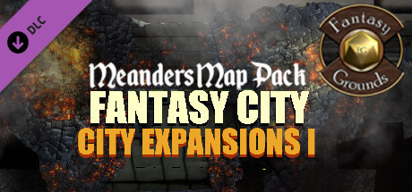 Fantasy Grounds - Meander Map Pack City Expansions I (Map Pack)