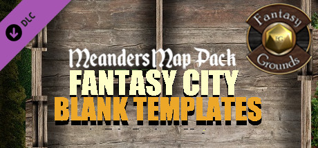 Fantasy Grounds - Meander Map Pack Fantasy City Blank Templates (Map Pack)