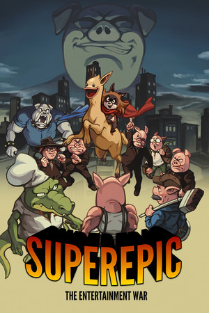 SuperEpic: The Entertainment War poster image on Steam Backlog