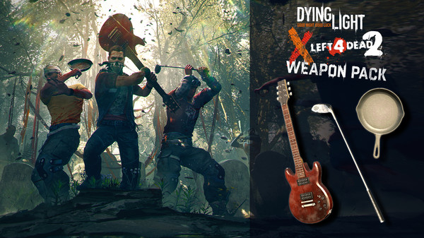 Скриншот №1 к Dying Light - Left 4 Dead 2 Weapon Pack