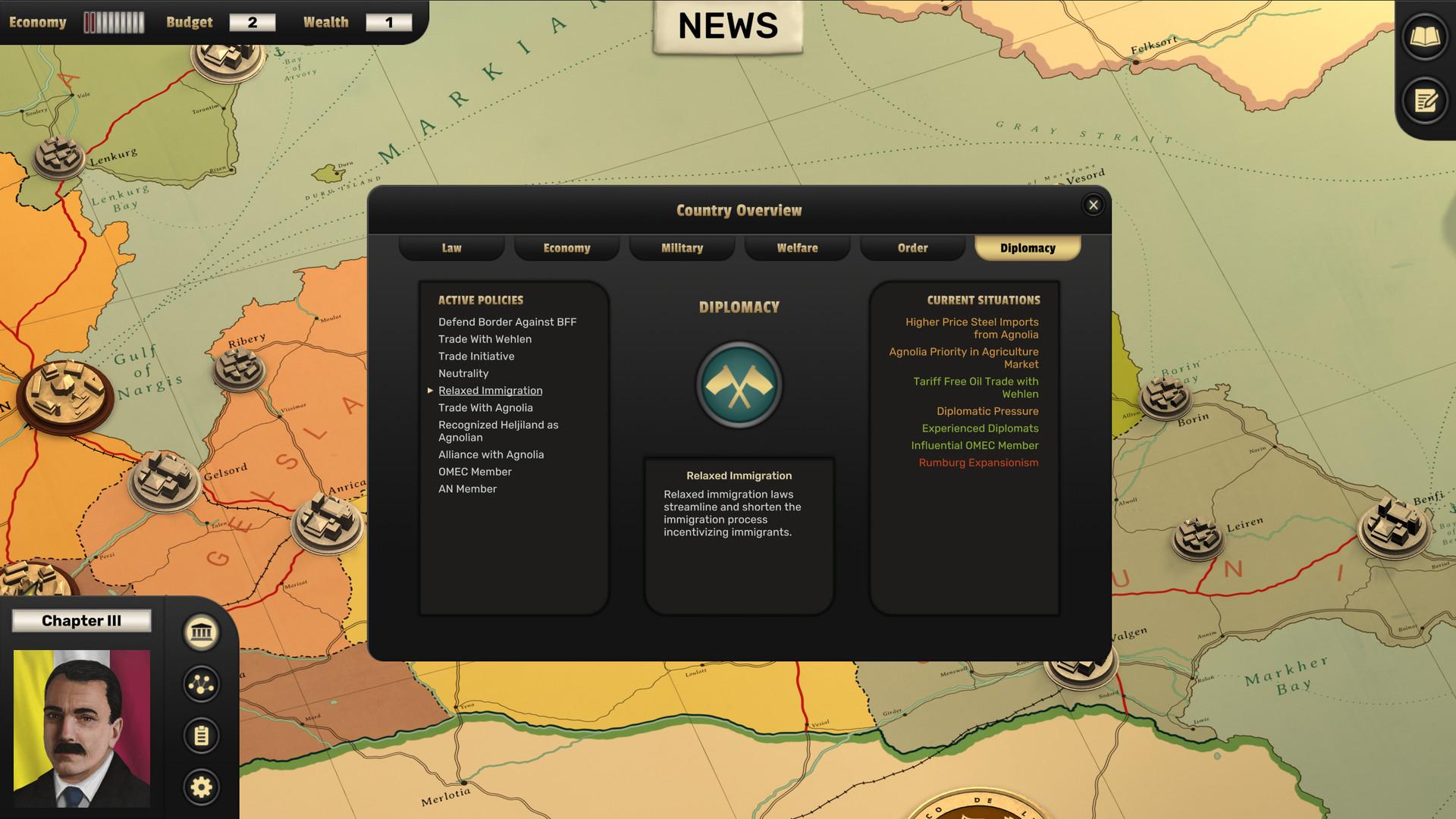 Suzerain screenshot 1