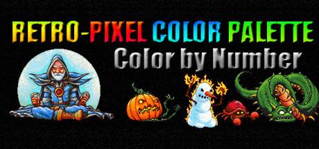 RETRO-PIXEL COLOR PALETTE: Color by Number