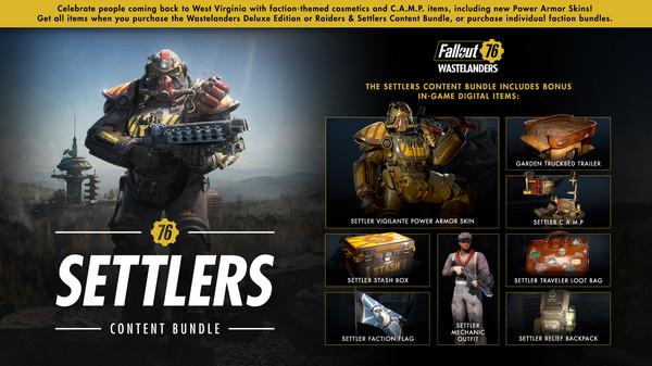 скриншот Fallout 76: Settlers Content Bundle 0