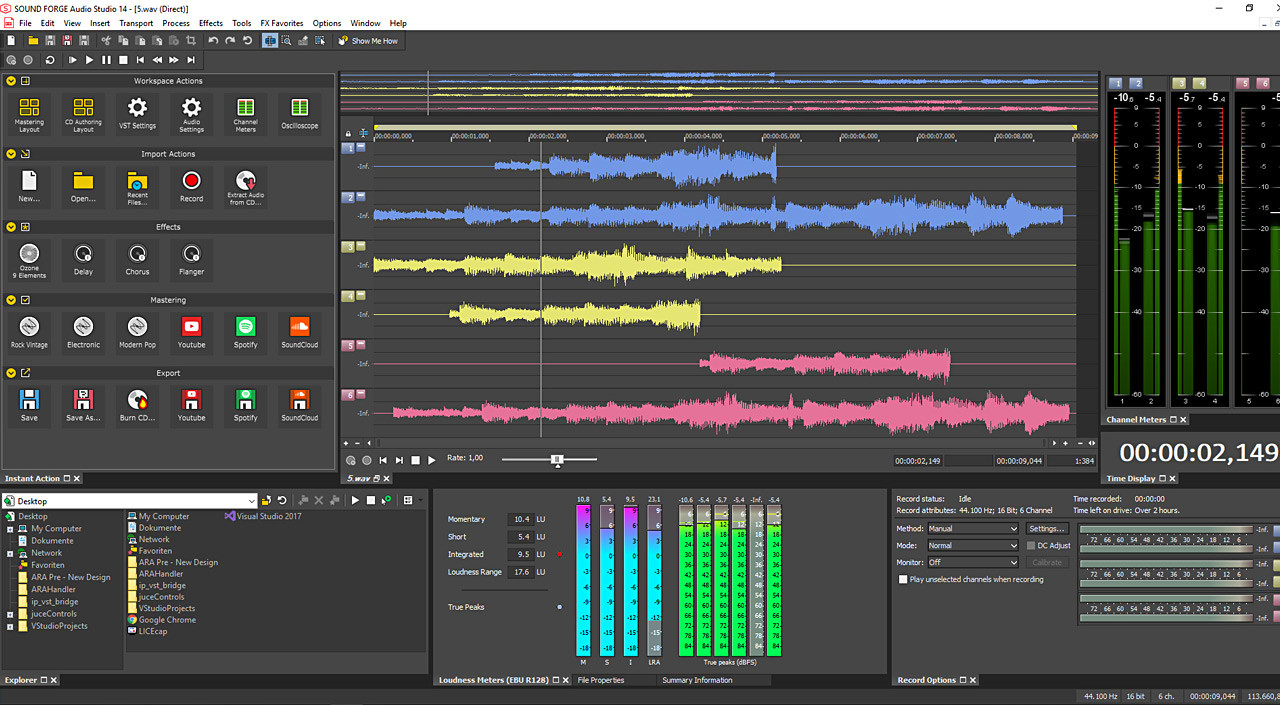 SOUND FORGE Audio Studio 13✔ Vollversion ORIGINAL Lizenz für 2 PC NEU