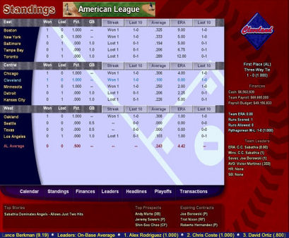 Скриншот из Baseball Mogul 2008