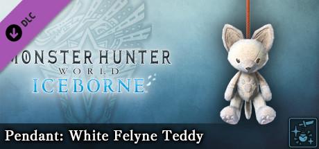 Monster Hunter World: Iceborne - Pendant: White Felyne Teddy