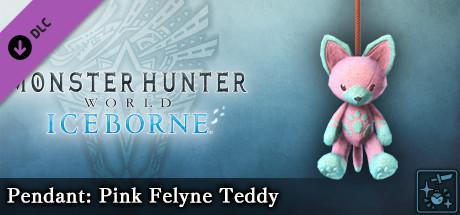 Monster Hunter World: Iceborne - Pendant: Pink Felyne Teddy