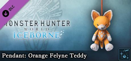 Monster Hunter World: Iceborne - Pendant: Orange Felyne Teddy