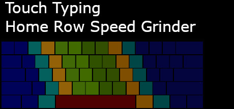 Touch Typing Home Row Speed Grinder