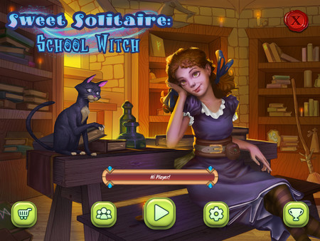 Скриншот из Sweet Solitaire: School Witch