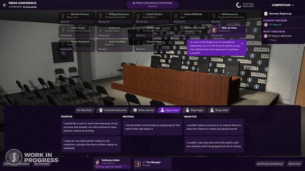 Screenshot of Football Manager 2021