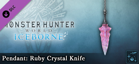 Monster Hunter World: Iceborne - Pendant: Ruby Crystal Knife
