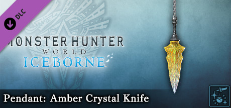 Monster Hunter World: Iceborne – Кулон: нож из янтарного кристалла