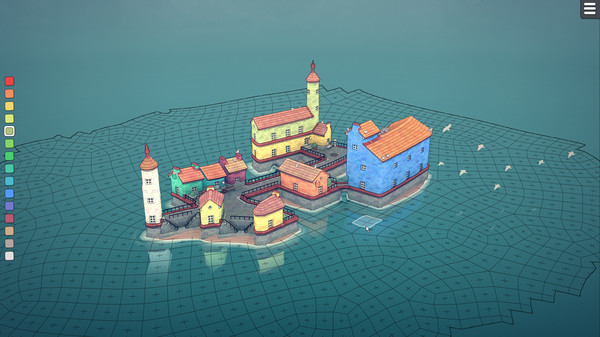 Screenshot of Townscaper