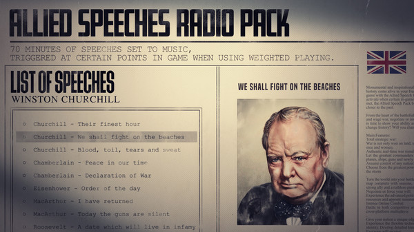 Скриншот №2 к Hearts of Iron IV Allied Speeches Music Pack