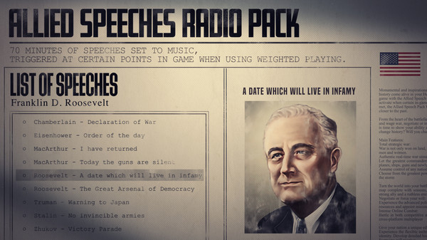 Скриншот №5 к Hearts of Iron IV Allied Speeches Music Pack