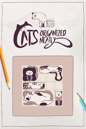 Cats Organized Neatly poster image on Steam Backlog