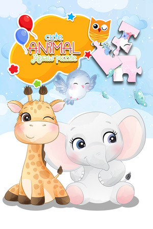 Cute animal jigsaw puzzle poster image on Steam Backlog