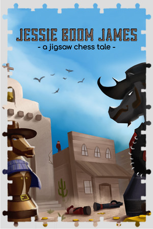 Jessie 'Boom' James - a jigsaw chess tale poster image on Steam Backlog