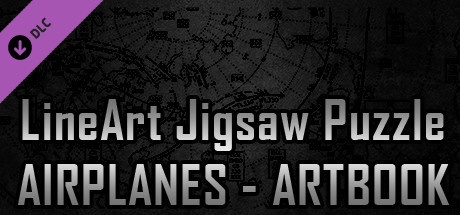 LineArt Jigsaw Puzzle - Airplanes ArtBook cover art