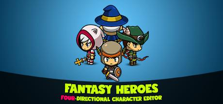 Fantasy Heroes: 4-Directional Character Editor & Sprite Sheet Maker