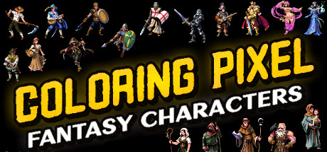 Coloring Pixel - Fantasy Characters