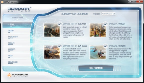 скриншот 3DMark Vantage 1
