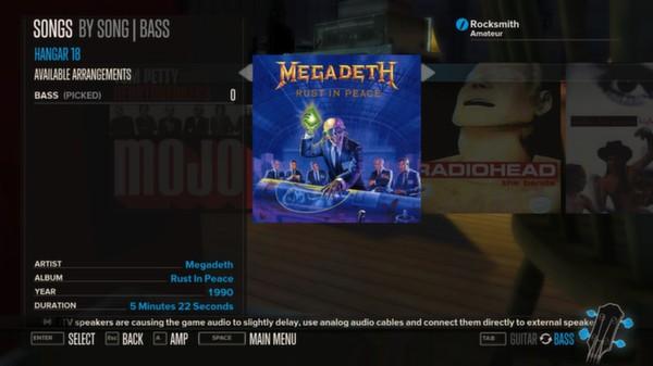 Rocksmith - Megadeth - Hangar 18 (DLC)