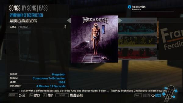 Rocksmith - Megadeth 3-Song Pack (DLC)