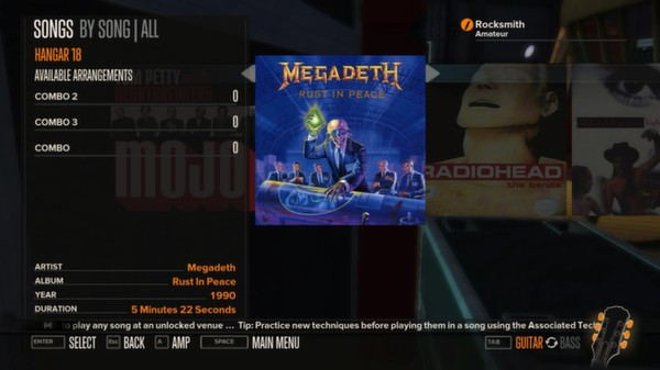 Rocksmith - Megadeth 3-Song Pack (DLC)