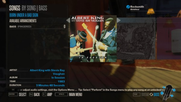 Rocksmith - Albert King with Stevie Ray Vaughan - Born Under a Bad Sign (DLC)