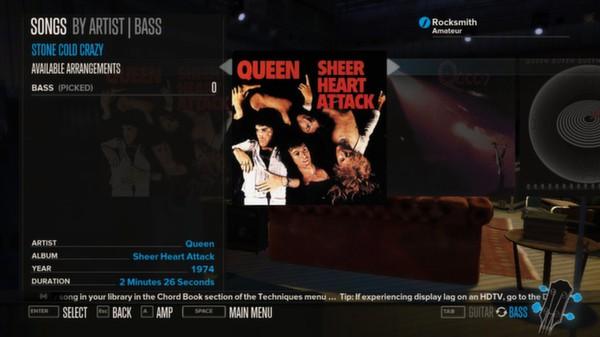 Rocksmith - Queen - Stone Cold Crazy (DLC)