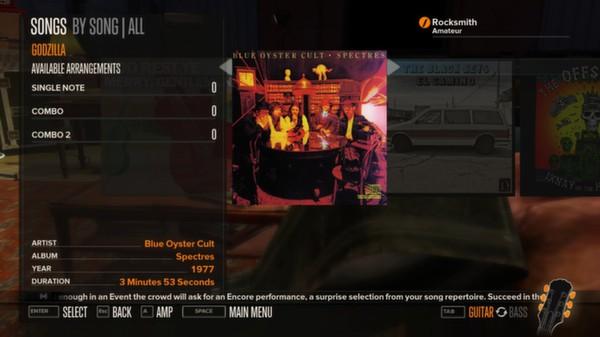Rocksmith - Blue Oyster Cult - Godzilla (DLC)