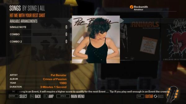 Rocksmith - Pat Benatar - Hit Me With Your Best Shot (DLC)