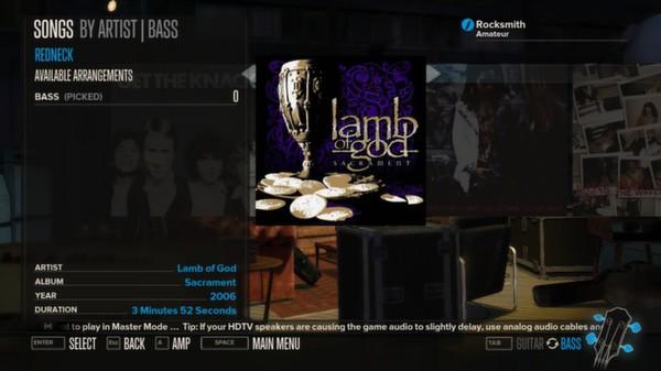 Rocksmith - Lamb of God - Redneck (DLC)