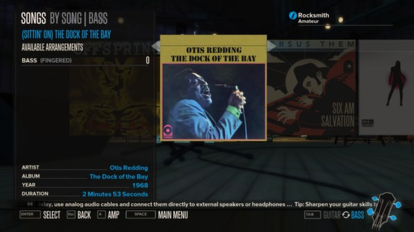 Rocksmith - Otis Redding - (Sittin' On) The Dock of the Bay (DLC)