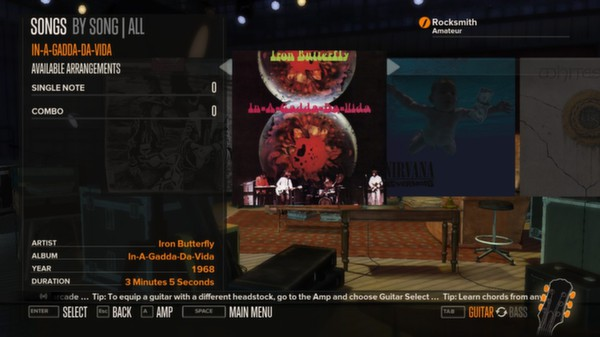 Rocksmith - Iron Butterly - In-A-Gadda-Da-Vida (DLC)