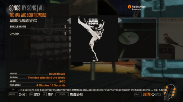 Rocksmith - David Bowie - The Man Who Sold The World (DLC)