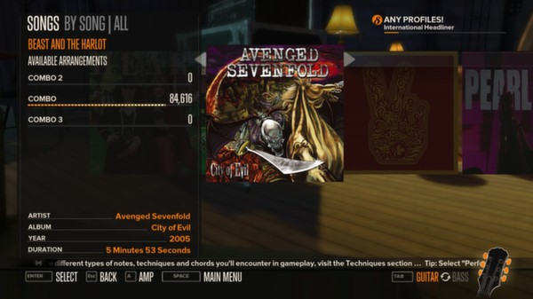 Rocksmith - Avenged Sevenfold - Beast and the Harlot (DLC)