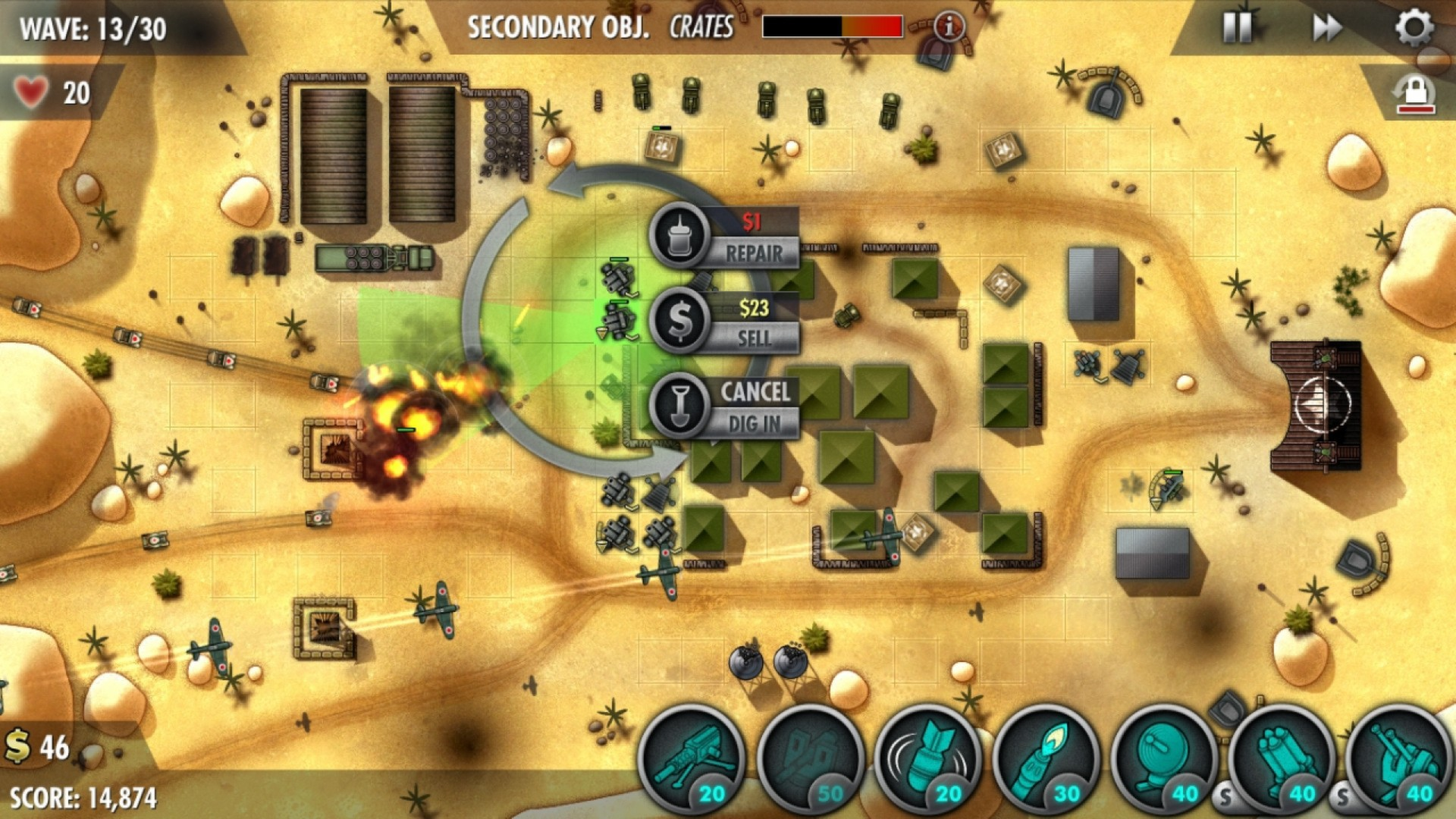 iBomber Defense Pacific screenshot