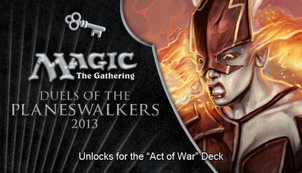 """Magic 2013 """"Act of War"""" Deck Key (DLC)"""