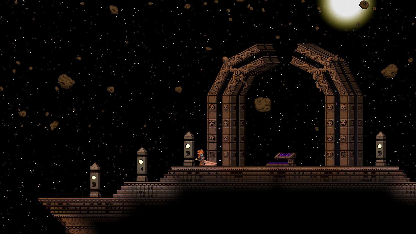Screenshot of Starbound server hosting